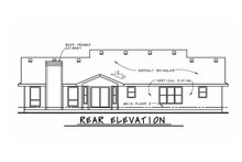 House Design - Traditional Exterior - Rear Elevation Plan #20-738