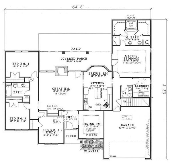 Traditional Floor Plan - Main Floor Plan Plan #17-147