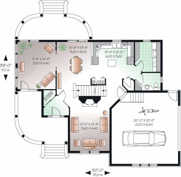 Farmhouse Floor Plan - Main Floor Plan Plan #23-748