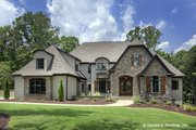 European Style House Plan - 5 Beds 4 Baths 4221 Sq/Ft Plan #929-855 Exterior - Front Elevation