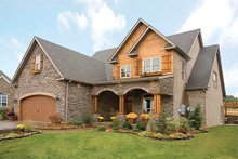 Dream House Plan - Traditional home with Craftsman details elevation photo
