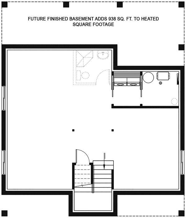 House Plan Design - Modern Floor Plan - Lower Floor Plan #23-2682