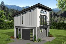 House Design - Contemporary Exterior - Front Elevation Plan #932-177