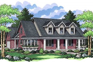Traditional Exterior - Front Elevation Plan #51-352