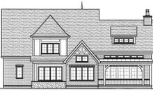 Dream House Plan - European Exterior - Rear Elevation Plan #413-815