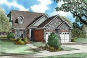 Traditional Style House Plan - 3 Beds 2.5 Baths 1574 Sq/Ft Plan #17-260 Exterior - Front Elevation