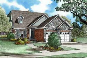 Traditional Exterior - Front Elevation Plan #17-260