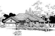 Traditional Style House Plan - 3 Beds 2 Baths 1850 Sq/Ft Plan #20-140 Exterior - Front Elevation