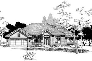 Traditional Exterior - Front Elevation Plan #20-140