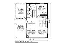 Cabin Floor Plan - Main Floor Plan Plan #70-1476