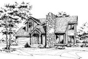 Modern Style House Plan - 3 Beds 2.5 Baths 1359 Sq/Ft Plan #320-124 Exterior - Front Elevation