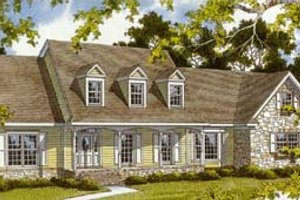 Country Exterior - Front Elevation Plan #10-255