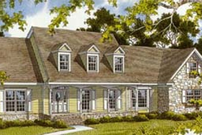 Country Style House Plan - 3 Beds 3.5 Baths 2759 Sq/Ft Plan #10-255 Exterior - Front Elevation
