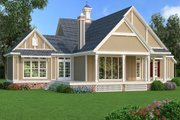 Traditional Style House Plan - 3 Beds 3 Baths 2150 Sq/Ft Plan #45-380 Exterior - Rear Elevation