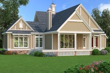 Dream House Plan - Traditional Exterior - Rear Elevation Plan #45-380