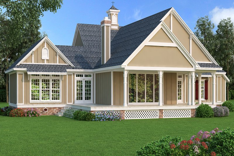 Traditional Exterior - Rear Elevation Plan #45-380 - Houseplans.com
