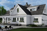 Farmhouse Style House Plan - 4 Beds 3.5 Baths 2862 Sq/Ft Plan #51-1155 Exterior - Rear Elevation