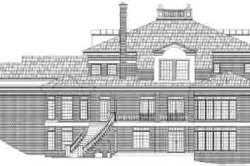 Southern Exterior - Rear Elevation Plan #119-225 - Houseplans.com