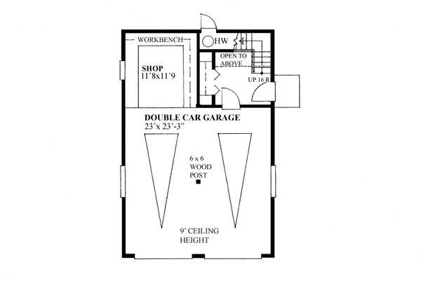 Home Plan - Traditional Floor Plan - Main Floor Plan #118-177