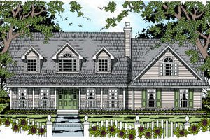 Architectural House Design - Country Exterior - Front Elevation Plan #42-345