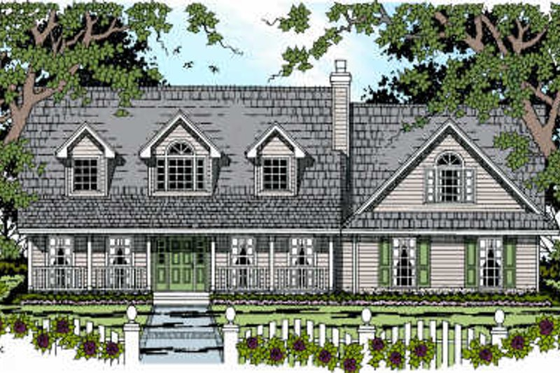 Country Exterior - Front Elevation Plan #42-345