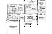 Craftsman Style House Plan - 3 Beds 2.5 Baths 2001 Sq/Ft Plan #21-370 Floor Plan - Main Floor