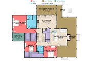 Farmhouse Style House Plan - 3 Beds 2 Baths 2185 Sq/Ft Plan #63-388 Floor Plan - Main Floor Plan