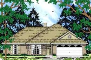 Ranch Exterior - Front Elevation Plan #42-325