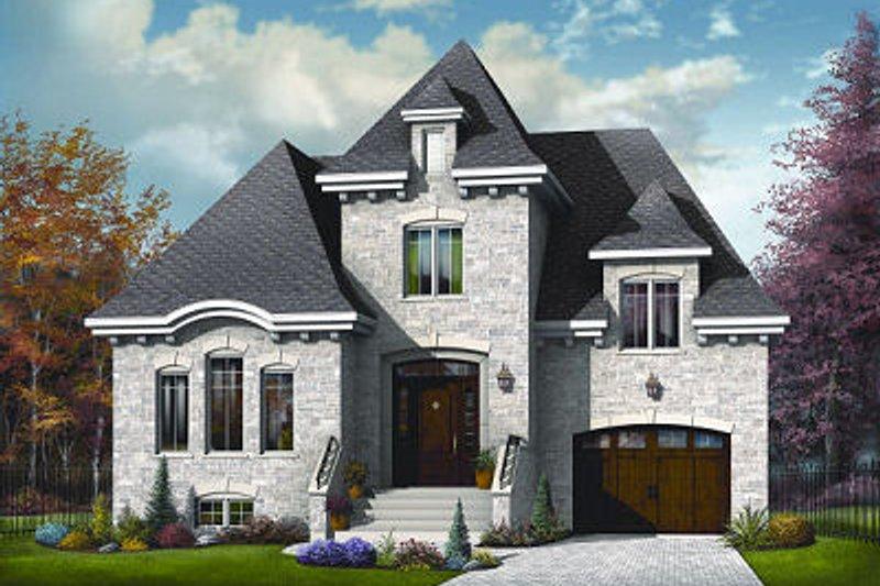 Dream House Plan - European Exterior - Front Elevation Plan #23-804