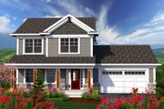 Traditional Style House Plan - 3 Beds 2.5 Baths 1569 Sq/Ft Plan #70-1160