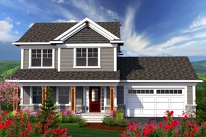 Architectural House Design - Traditional Exterior - Front Elevation Plan #70-1160