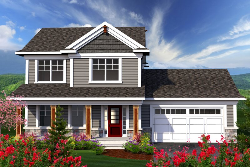 Home Plan - Traditional Exterior - Front Elevation Plan #70-1160