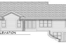 Home Plan - Ranch Exterior - Rear Elevation Plan #70-790