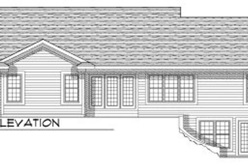 Ranch Exterior - Rear Elevation Plan #70-790 - Houseplans.com