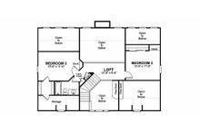 Farmhouse Floor Plan - Upper Floor Plan Plan #56-238