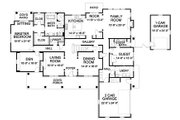 Traditional Style House Plan - 5 Beds 4.5 Baths 5150 Sq/Ft Plan #490-16 Floor Plan - Main Floor Plan