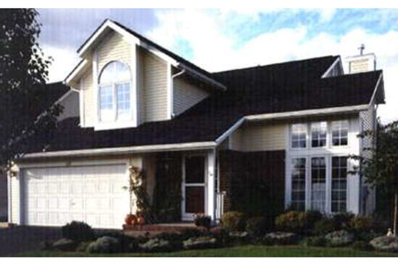 Traditional Style House Plan - 2 Beds 2.5 Baths 1516 Sq/Ft Plan #320-376 Exterior - Front Elevation
