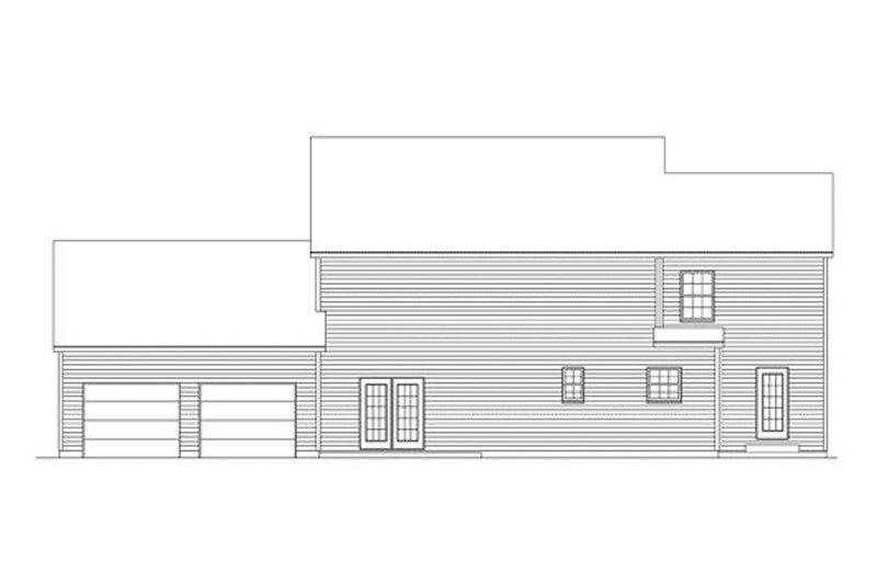 Southern Exterior - Rear Elevation Plan #57-236 - Houseplans.com