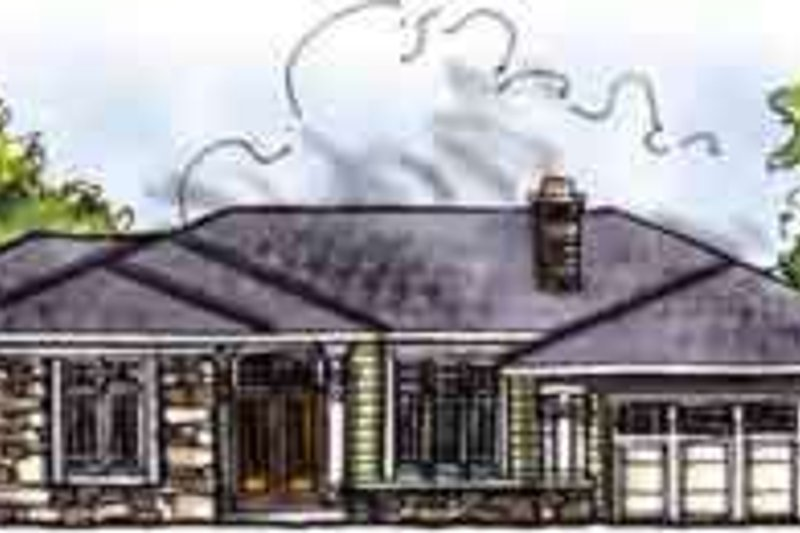 Home Plan - Traditional Exterior - Front Elevation Plan #70-645