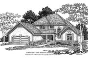 Traditional Style House Plan - 4 Beds 2.5 Baths 2712 Sq/Ft Plan #70-432 Exterior - Front Elevation