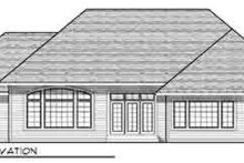 Dream House Plan - European Exterior - Rear Elevation Plan #70-839