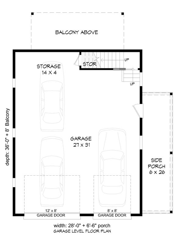 Cabin Floor Plan - Main Floor Plan #932-285