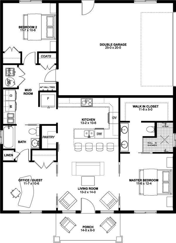 Dream House Plan - Farmhouse Floor Plan - Main Floor Plan #126-234