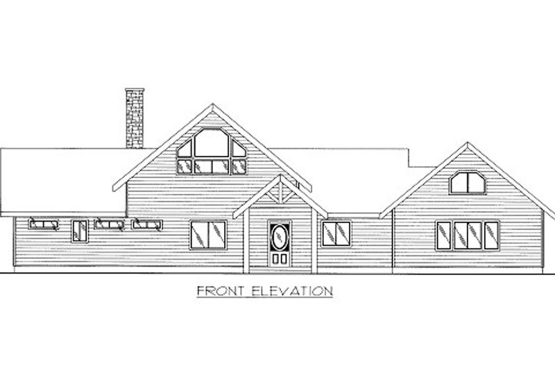 Bungalow Style House Plan - 2 Beds 4 Baths 4040 Sq/Ft Plan #117-613 Exterior - Front Elevation