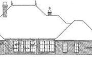 European Style House Plan - 3 Beds 3 Baths 2462 Sq/Ft Plan #310-370 Exterior - Rear Elevation