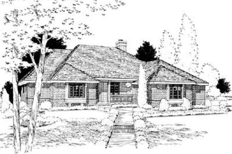 Traditional Exterior - Front Elevation Plan #20-862 - Houseplans.com