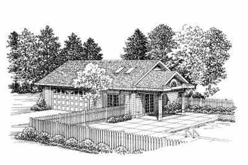 Traditional Exterior - Front Elevation Plan #72-276 - Houseplans.com