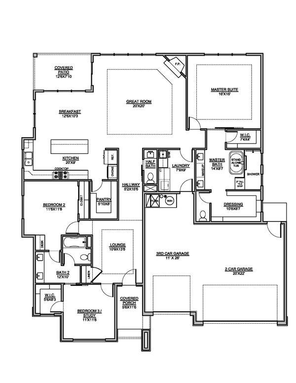 Modern Floor Plan - Main Floor Plan #1073-27