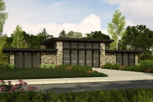 Modern Exterior - Front Elevation Plan #509-31