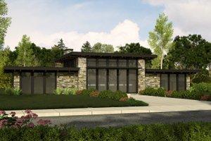 Modern Exterior - Front Elevation Plan #509-31